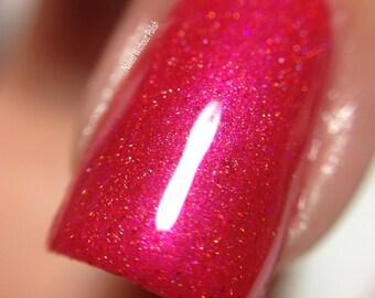 Red Nail Polish - Romeo  Large bottle  -  Handmade - polish  - Vegan LE
