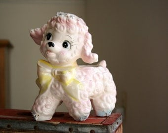 Cute Kitsch Pink Baby Lamb Nursery Planter