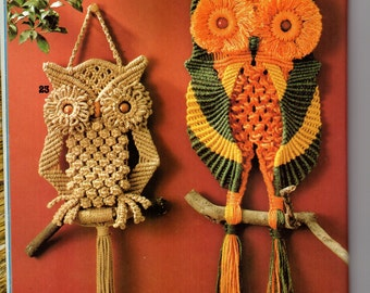 Four owls macrame