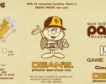 I'ts Basaball Time - 1974 San Diego Padres Baseball schedule