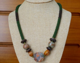 Sage Green Kumihimo Necklace
