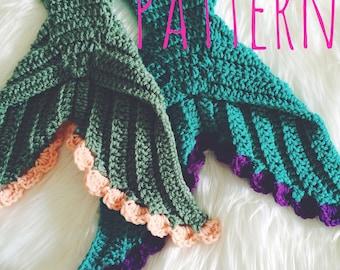 Baby Mermaid Crochet Pattern Mermaid Tail Crochet Pattern Baby Photo Prop Pattern Newborn Size - The Finlea - Newborn Size