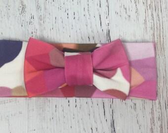 Kaleidoscope bow turban headband