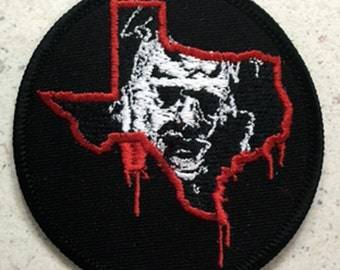 """Texas Chainsaw Massacre """"bloody state"""" patch Leatherface chainsaw"""