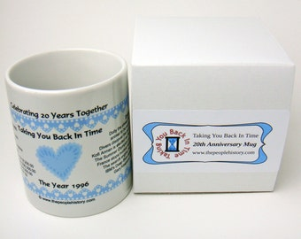 Pre-Made 1996 Anniversary Message Mug - Celebrating 20 Years Together