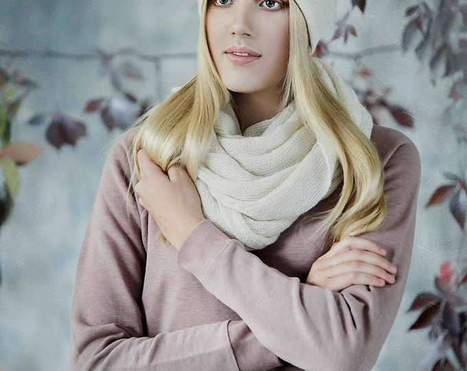 SALE 50% OFF Solid wrap Scarf, organic wool Scarf, Knit woman Scarf gray accessories wool scarf /wool shawl woman scarf knitted alpaca scarf
