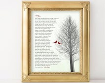 CHRISTMAS GIFT for Mom Birthday Gift from Daughter or from Son Personalized Poem for Mothers Gift for Mom Gift Ideas from Kids