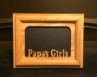 papas girls picture frame papa picture frame papa and me papa frame papa grandpa frame grandpa papa and me papa gift 5x7