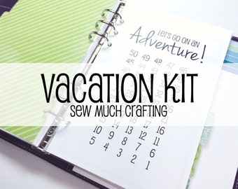 Printed Personal Size Vacation Kit