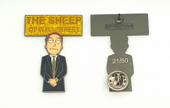 The Sheep of Wall Street - LE50, Jerry - Rick and Morty, Peskystuff, pin, lapel pin, rick and morty pin, sheeople,