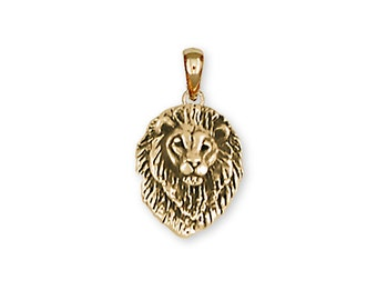 14K Yellow Gold Vermeil Lion Pendant - LION5PVM