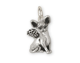 Chihuahua Angel Jewelry Sterling Silver Charm Chihuahua Angel Charms And Chihuahua Angel Jewelry CH64-AC