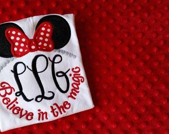 Minnie Mouse Tiara Monogrammed Shirt