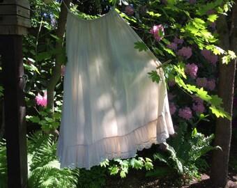 vintage Laura Ashley cotton slip with lace size M