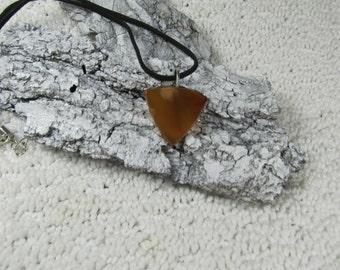 Carnelian Agate, stone necklace, 18 to 20 inch black suede, and sterling silver mount (box 1)