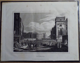 "1816 Original Engraving - "" Dublin "" by Thomas Kelly"