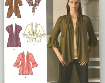 UNCUT 2560 Simplicity Sewing Pattern Stretch Knit Fabric Cardigans Size 8 10 12 14 16