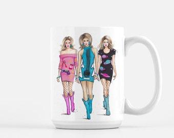 Fashion Coffee Mug, Gift For Friend, Fashion Illustration, Chic Mug, Coffee Lover Mug, Fashionista Mug, Cute Mug, Haute Couture Inspired