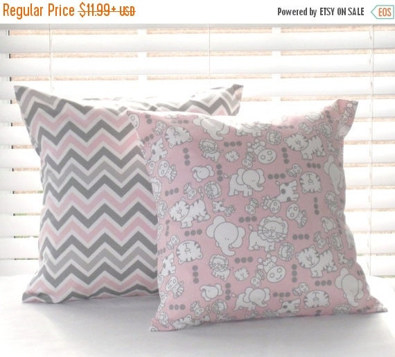 CLEARANCE SALE Pillow Covers Pillows Pink by PillowsByJanet
