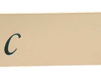 50 Monogrammed place cards in white or ivory style script font  style