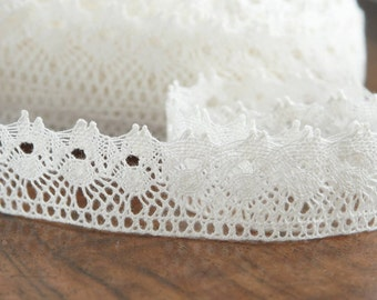 Natural linen lace Linen lace for sewing Crochet linen lace Linen lace White linen lace 3.5 cm wide
