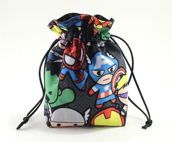 SALE Kawaii Superhero Drawstring Bag, Dice Bag
