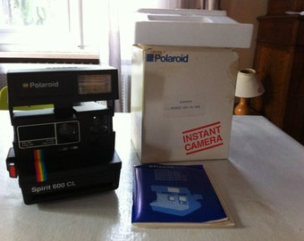 Vintage Polaroid Spirit 600 CL Instant Camera With original box and user manual