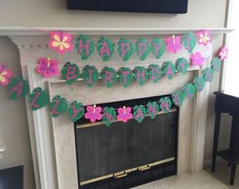 Luau Banner, Luau Birthday Theme, Hawaiian Wedding, Hawaiian Engagement, Luau Celebration, Luau Anniversary Banner, Hawaiian Theme Party
