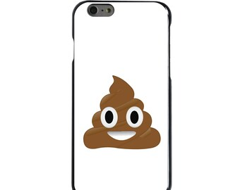Hard Snap-On Case for Apple 5 5S SE 6 6S 7 Plus - CUSTOM Monogram - Any Colors - Poop Emoji