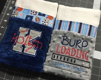 Personalized Burp Cloth - Set of 2