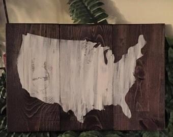 USA/United States Wood Sign