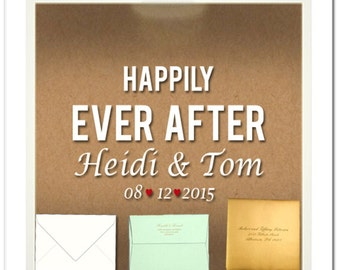 Wedding Card Holder-Personalize with your custom saying, date or quote!