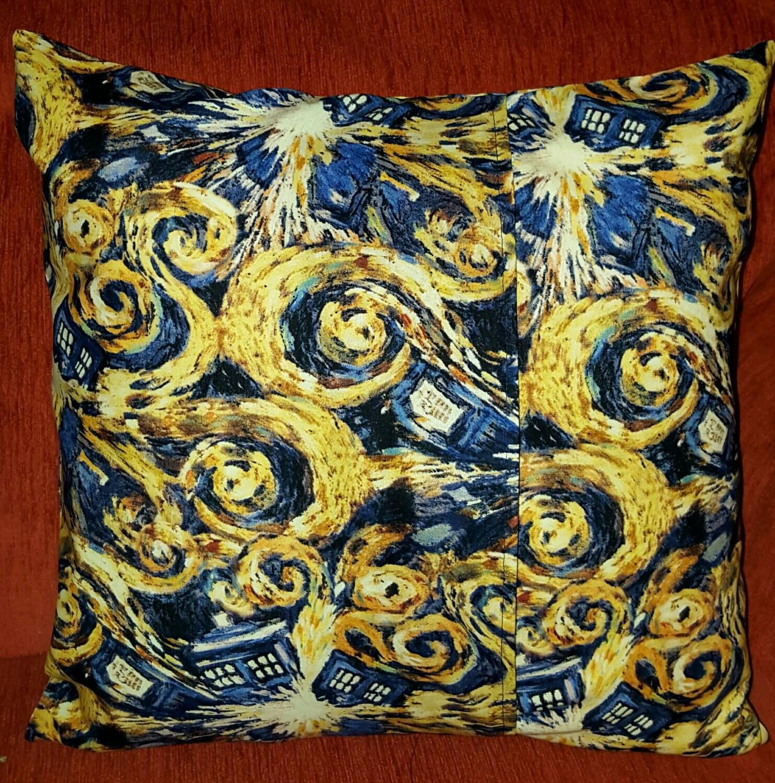 ExplodingTardis  Pillow Cover