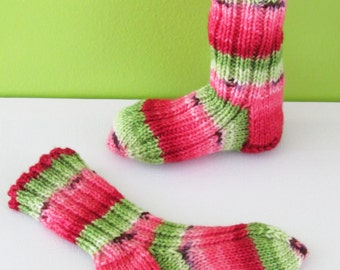 Socks for baby watermelon