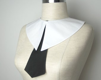 Madonna halloween costume,Madonna erotica collar,Wednesday Addams  collar , white detachable collar