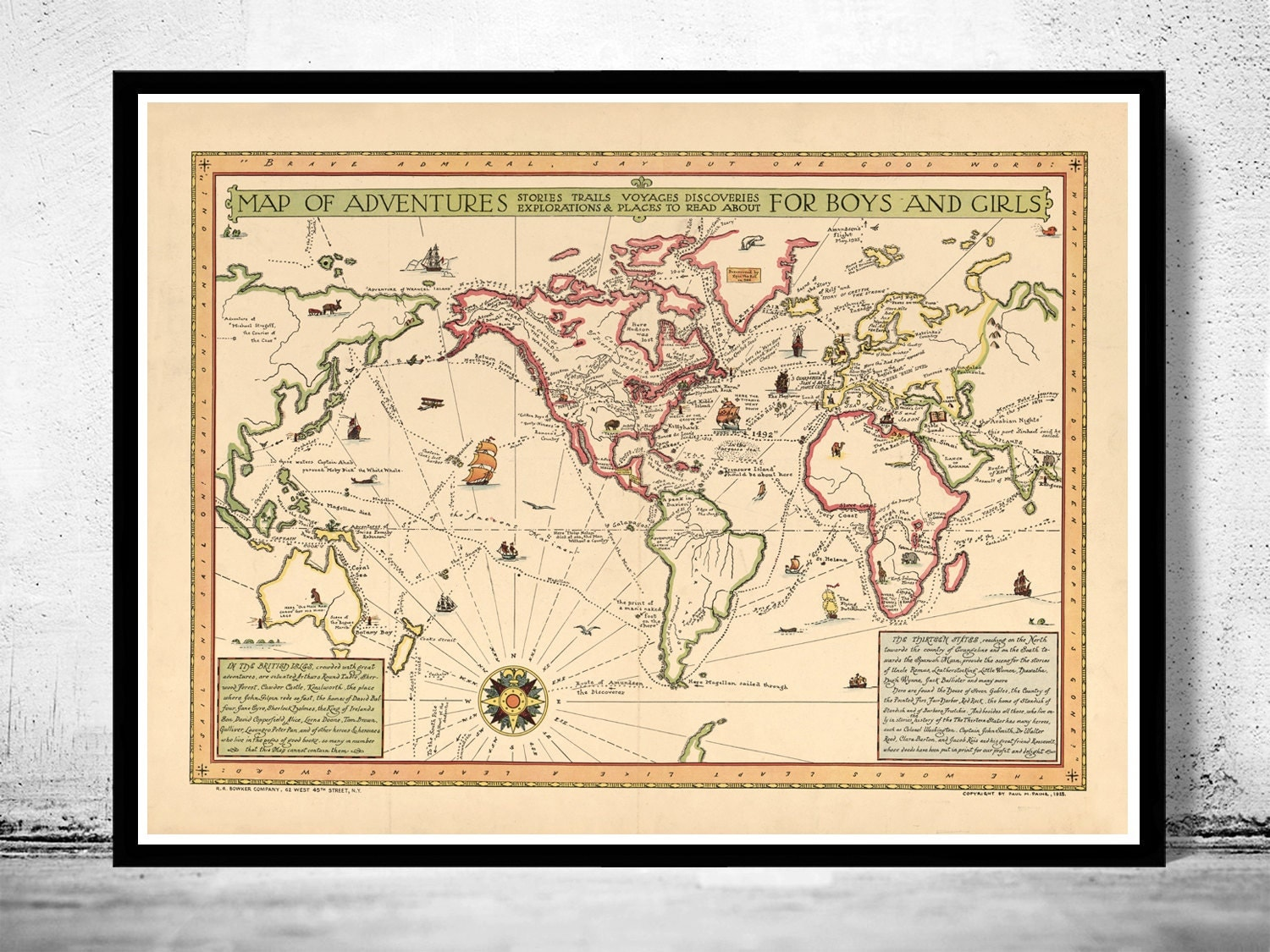 vintage world atlas related - photo #15