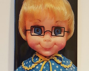 "Mrs. Beasley Doll 2"" x 3"" Fridge Magnet Art Family Affair Vintage"