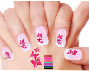 Nail Decals, Water Slide Nail Tattoo Stickers, Butterflies