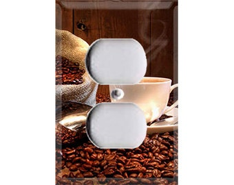 Fresh Cup of Coffee Single Outlet Cover