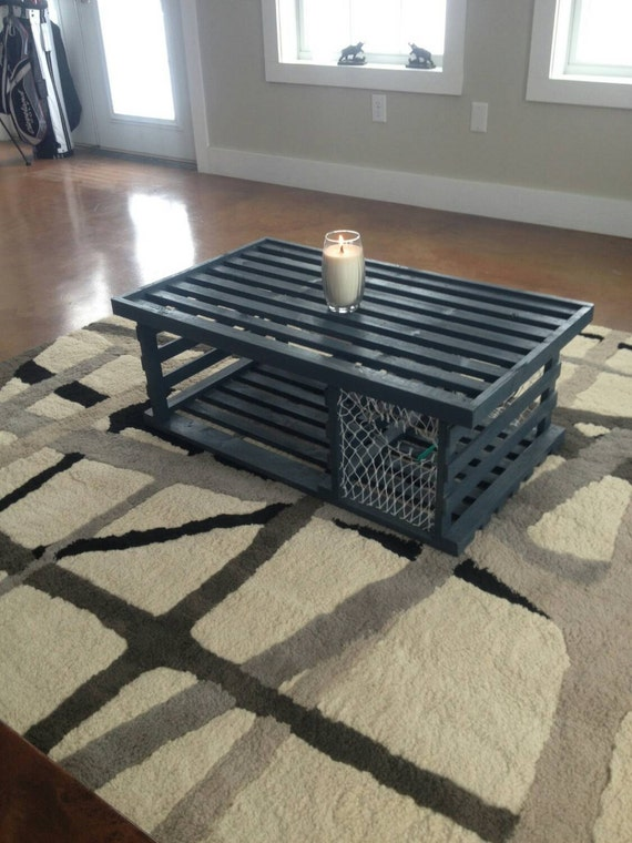 Handmade Wooden Lobster Trap Coffee Table built by retired Maine ...