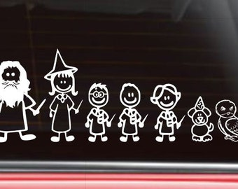 Wizard Stick Figure Family, Personalized Family,
