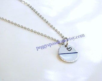 Thin Blue Line... Small Petite Pendant. Leo's & Corrections, Proud Female, Wife, Mother,Daughter.