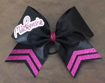 Custom Cheer Bow - YOU CHOOSE Colors and Name