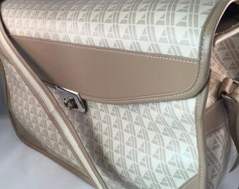 REDUCED - 1970's Avon Sales Rep Shoulder Bag/Tote Adjustable Shoulder Strap/Inside Cover Flap/Backside Pocket