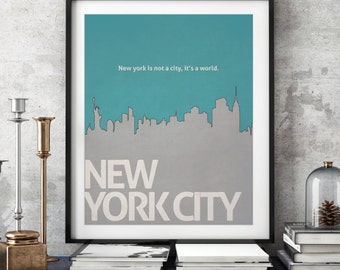 New York city poster,NYC quote posters,NYC skyline prints,NYC skyline posters,nyc posters,nyc wall art,City quote posters,nyc gifts