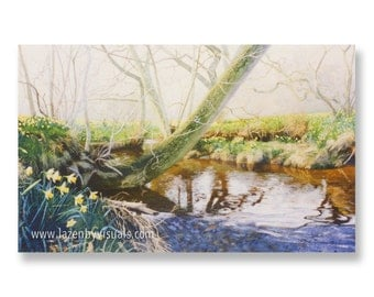 River Dove - by James McGairy - Painting of the River Dove in beautiful picturesque Farndale, North Yorkshire - Limited Edition giclee Print