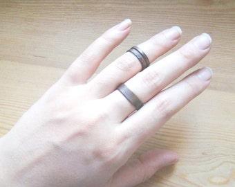 Rings Knuckle Ring Set, Stacking Rings  Set of 3  Above Knuckle Rings  copper dark Knuckle Rings Mid Finger Rings