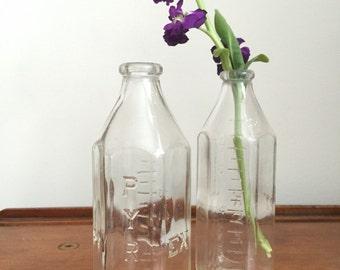 Vintage 8 oz Glass Pyrex Baby Bottles