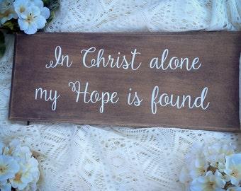 "In Christ Alone (5.25"" x 13"")"