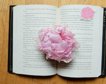 Peony Flower Magnetic Bookmark (Jumbo)